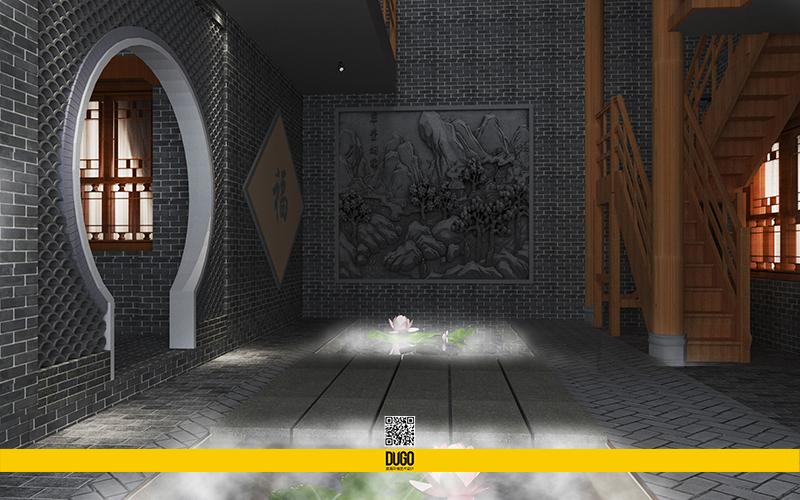 袁家村里居精品民宿酒店 效果图部分-陕西度高环境艺术设计有限公司