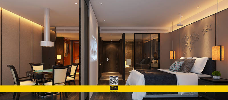 咸阳泊舍精品酒店 空间设计-陕西度高环境艺术设计有限公司