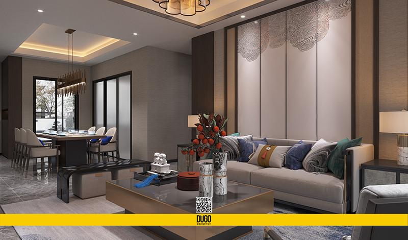 东鹏公园印 样板间空间设计部分-陕西度高环境艺术设计有限公司