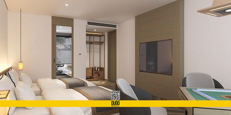 翠微尚居民宿酒店 空间设计-陕西度高环境艺术设计有限公司
